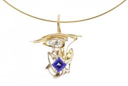 Burning Water Tanzanite Pear Diamond