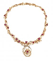 Burning Water Ruby Necklace