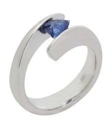 Tension Sapphire Ring