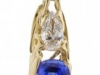 Burning Water Diamond Tanzanite Pendant