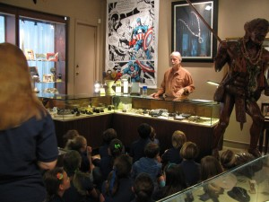 Rock Hard speaking with 4th Graders on evolution and the art of jewelry making